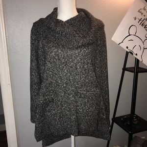 Michael Kors Knit Grey Oversized Sweater SZ M